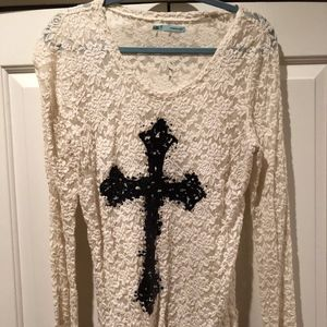 Maurices detailed white shirt.  M.